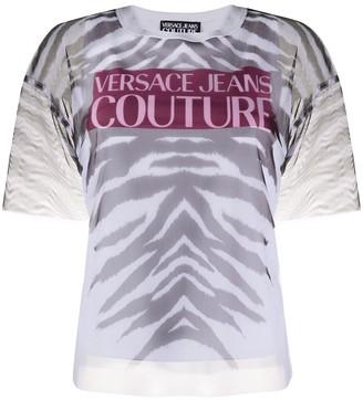 Versace zebra print sheer T-shirt
