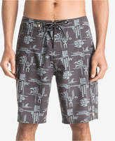 Quiksilver Waterman Men's Upstream Geo-Print Swim Trunks