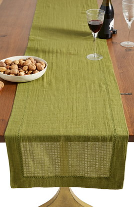 Anthropologie Home Arnou Cotton Table Runner