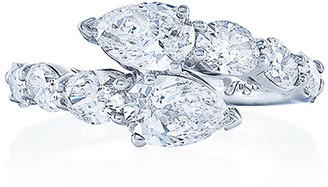 JB Star Platinum Diamond Pear & Oval Ring