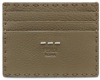 Fendi Logo-Embossed Business Card Holder