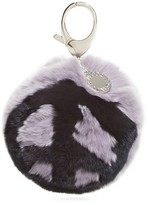 Rebecca Minkoff Peace Rabbit Fur Pom Pom Key Fob