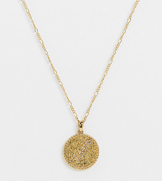 Reclaimed Vintage inspired hydra constellation pendant necklace in 14k gold plate
