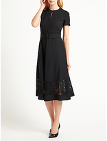Marella Adesso Lace Trim Dress, Black