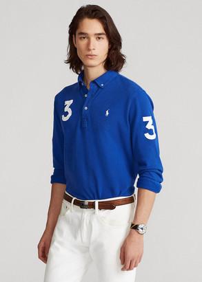 Ralph Lauren Classic Fit Mesh Long-Sleeve Polo Shirt