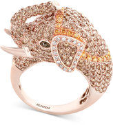 Effy Diamond Elephant Ring (3-1/2 ct. t.w.) in 14k Rose Gold