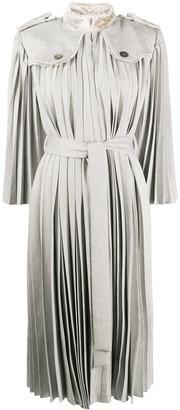 Atu Body Couture Pleated Shirt Dress