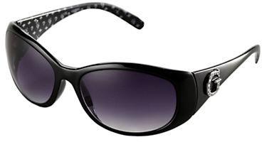GUESS Tortoise Wraparound Sunglasses