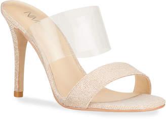 Neiman Marcus Disco Transparent-Strap Sandals
