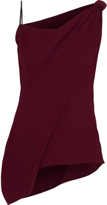 Roland Mouret Goxhill Draped Crepe Top