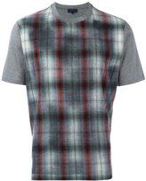 Lanvin tartan design T-shirt - men - Cotton/Wool - S