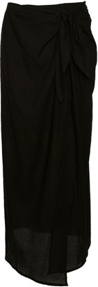 Anémone Ramie Wrap Maxi Skirt