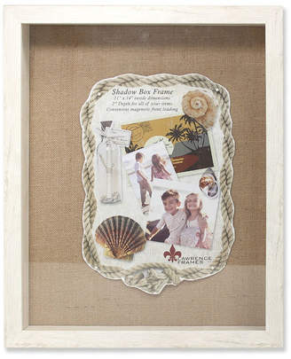 "Lawrence Frames Ivory Front Hinged Shadow Box Frame - Burlap Display Board - 11"" x 14"""