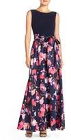 Ellen Tracy Women's Floral Satin Ballgown