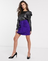 Thumbnail for your product : And other stories & leopard jacquard gathered mini skirt in purple