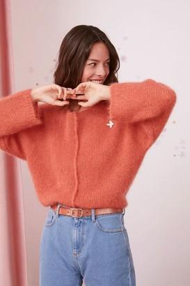 Des Petits Hauts Colane Fluffy Sweater In Agrume - S/M