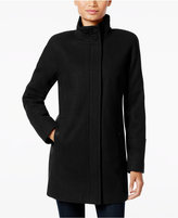 Lucky Brand Stand-Collar Asymmetrical Walker Coat