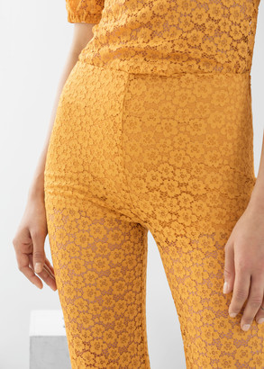 And other stories Floral Lace Flared Trousers