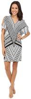Hale Bob Bold Geometry Cold Shoulder Dress