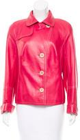Akris Leather Notch-Lapel Jacket