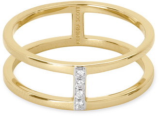 Kendra Scott Waylon 14K Gold Band Ring in White Diamond