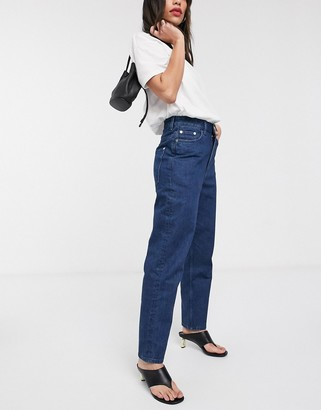 And other stories & Roma ovoid jean in indigo blue