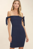 LuLu*s Cause a Commotion Black Off-the-Shoulder Dress