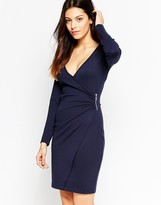 French Connection Lula Stretch Pinched Side Dress