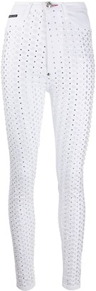 Philipp Plein High Waist Star Jeggings