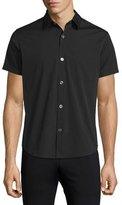 Theory Rammis Short-Sleeve Woven Shirt, Black