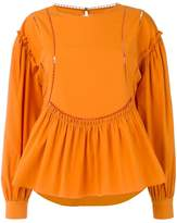 Alberta Ferretti ladder detail blouse