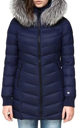 Soia & Kyo Alanis Fox Fur-Trim Hooded Down-Filled Coat