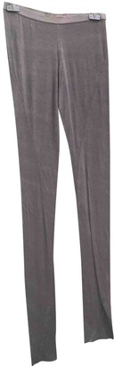 Rick Owens Lilies Grey Cotton Trousers