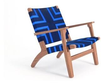 "Thumbnail for your product : Masaya & Co 29"" Wide Polyester Armchair Leg Color: Royal Mahogany"