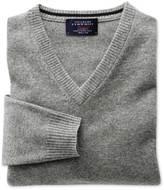 Charles Tyrwhitt Silver grey cashmere v-neck sweater