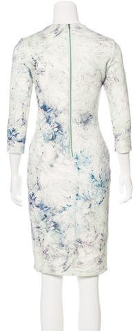 Hunter Abstract Print Sheath Dress