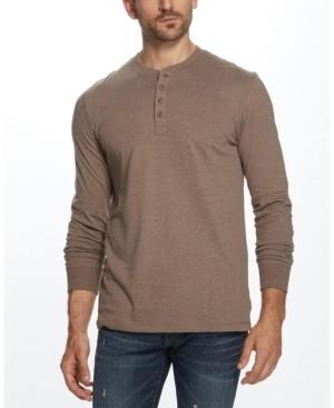 Weatherproof Vintage Mens Melange Henley Shirt