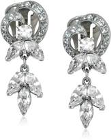 "Ben-Amun Jewelry ""Pearl and Crystal"" Crystal Heart Earrings"