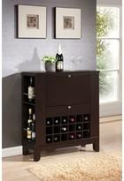 Kinnear Wooden Bar with Wine Storage Winston Porter