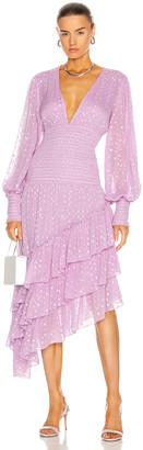 Rococo Sand Nut Ruffle Midi Dress in Lilac | FWRD