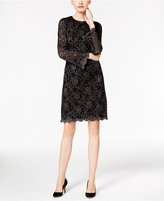INC International Concepts Metallic Flocked Lace Dress, Only at Macy's