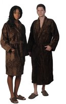 Hot-Shelf Unisex Cotton Velour Shawl Collar Bathrobe