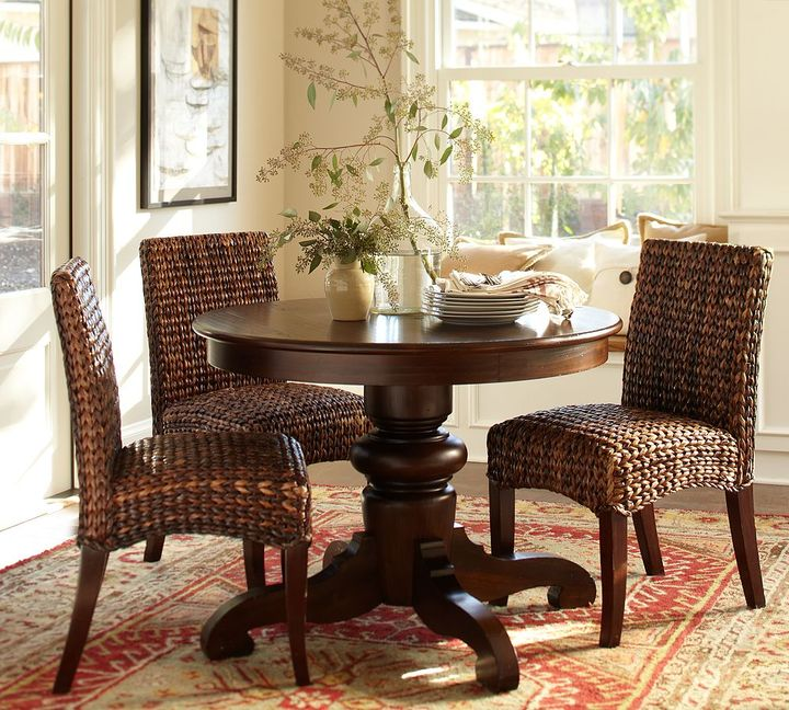 Pottery Barn Tivoli Fixed Pedestal Dining Table - Tuscan Chestnut stain