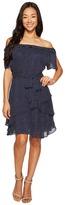 Tahari by Arthur S. Levine Petite Pindot Chiffon Dress Women's Dress