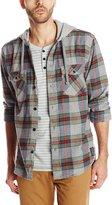 Quiksilver Men's Rockyfist Long Sleeve Hooded Shirt, Rosewood