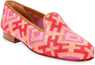 Stubbs And Wootton Harlow Needlepoint Smoking Loafers