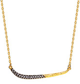 Genevive Gold Over Silver Cz Sword Necklace