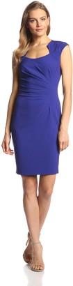 Calvin Klein Women's Cap Sleeve Side Rouched Sheath Dress