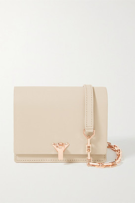 THE VOLON Po Pocket Mini Leather Shoulder Bag - Beige