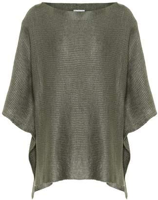 Brunello Cucinelli Linen and silk knitted cape